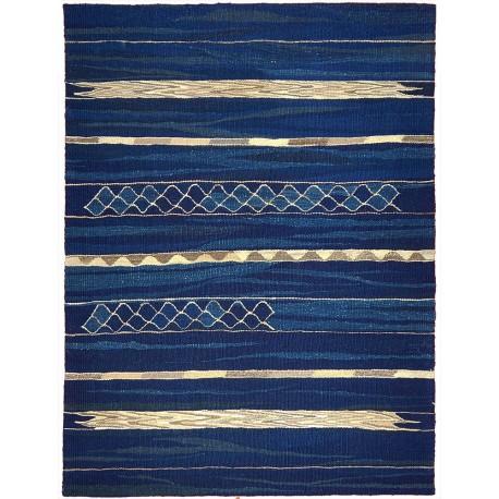 petit tapis bleu