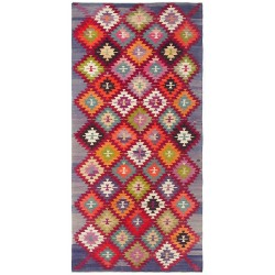 colored vintage rug paris Afyon Kilim