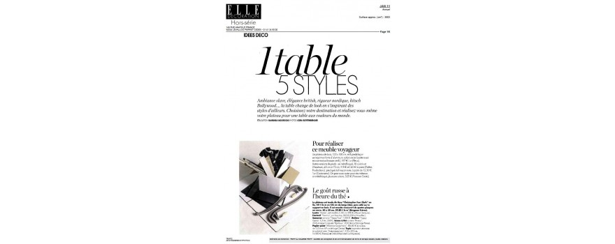 1 table 5 styles