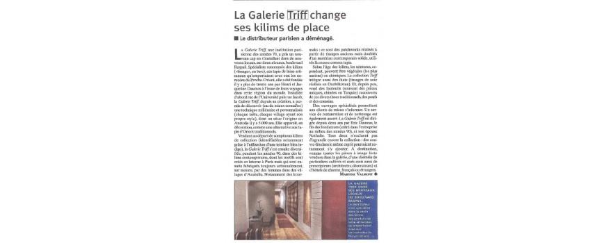 La galerie Triff change ses kilims de place