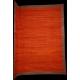Oversize red flatweave