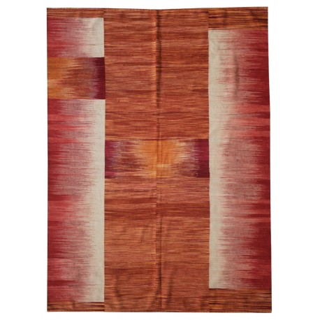 Red contemporary rug -New kilim - Contemporary pattern
