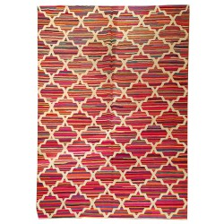 Tapis contemporain multicouleurs