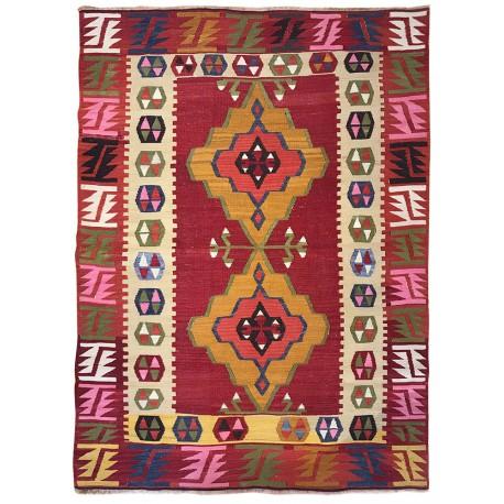 colored antique rug