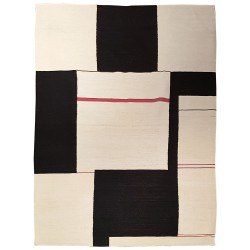 tapis contemporain noir et blanc paris