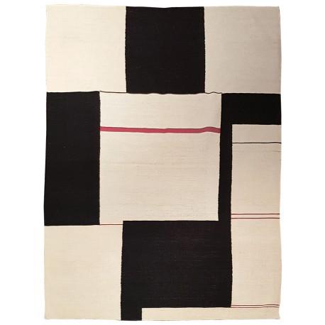 tapis contemporain noir et blanc paris