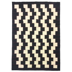 black and white contemporary rug paris