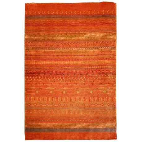 orange color rug paris