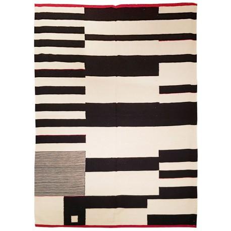 black and white contemporary rug paris