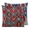 Suzani and ikat cushion
