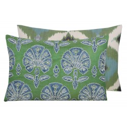 Suzani and ikat cushion