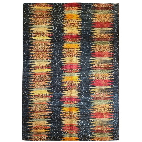 Hand-knotted new rug bleu