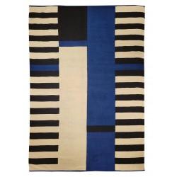 contemporain carpet black blue