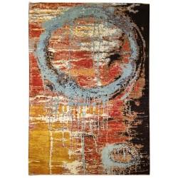 Tapis noué contemporain Paris abstrait