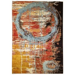 Knotted new rug - Contemporary pattern