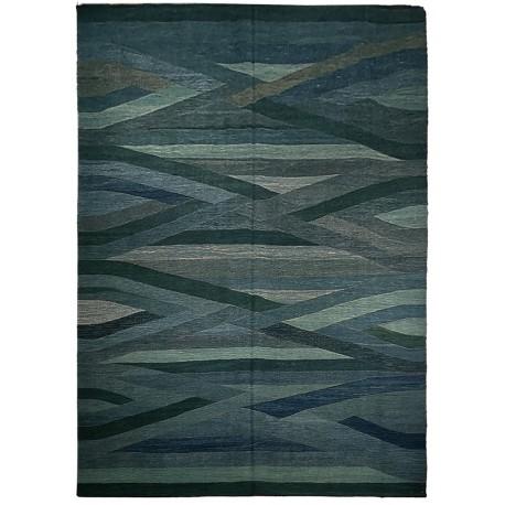 Kilim bleu rug design Paris
