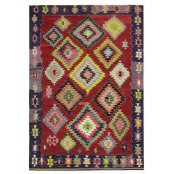 antique colored rug paris