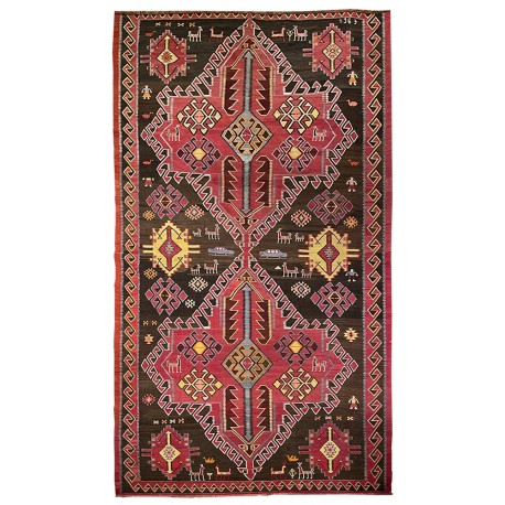 rug with figurative pattern