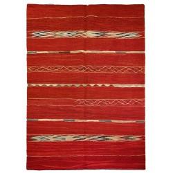 Kilim contemporain red rug paris